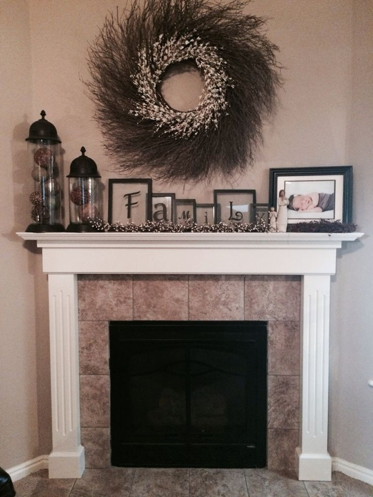 fireplace mantel decorations candle