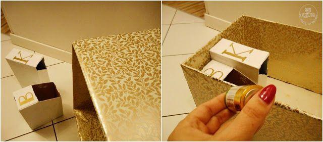 złote listki  box  recycling