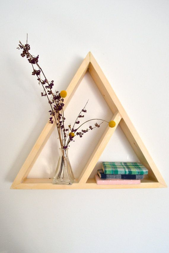 Large Triangle Shelf by The807 on Etsy, $35.00: Decor, Ideas, Inspiration, Etsy, Double Triangles, Large Triangles Shelf, Triangles Shelves, Shelves Diy Triangles, Grand Triangles