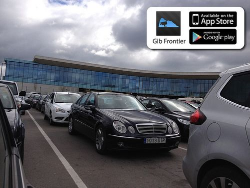 Gibraltar frontier queue, out of Gibraltar. Check out Gib Frontier app for live information: https://www.facebook.com/pages/Gibraltar-Frontier/262846427175217