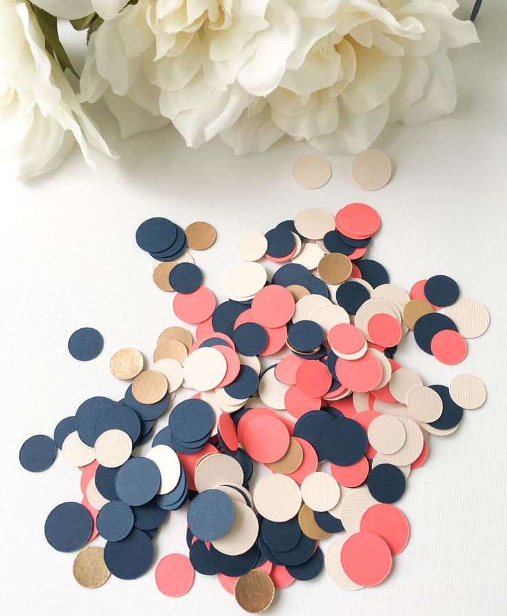 A personal favorite from my Etsy shop https://www.etsy.com/ca/listing/545211452/navy-confetti-rose-gold-confetti-custom