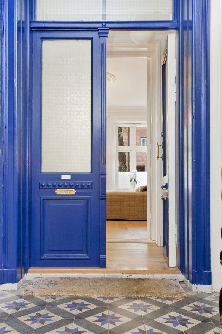 En lekker blå dør