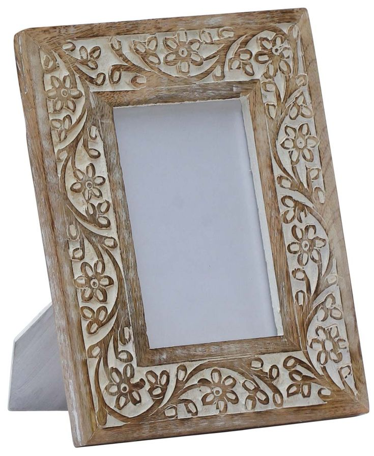 4x6 inches shabby chic picture frame in bulk wholesale handmade mango wood photo frame