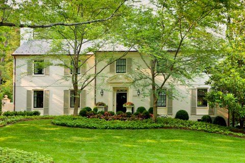 17 best images about exterior paint colors sage shutters for Brick houses without shutters