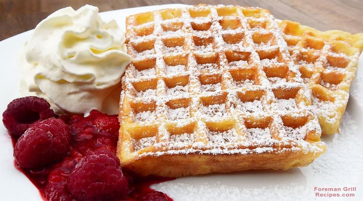 Let's get back to basics with a good old fashioned waffle recipe and make steaming hot, fresh waffles using the George Foreman Grill.