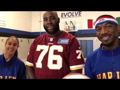 Washington Redskins' Morgan Moses | Trick Shots - YouTube