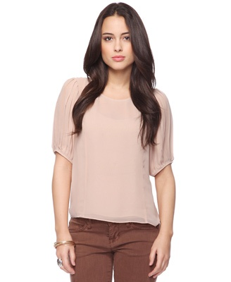 Pleated Sleeves Top  Was:$19.80  Now:$8.99