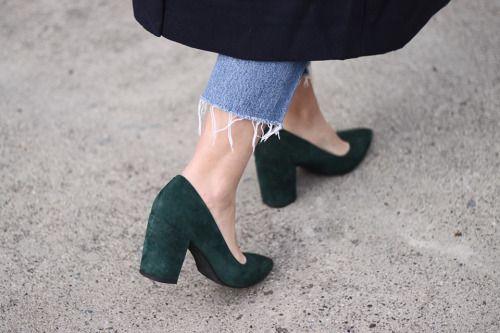 Green shoes | #darkgreen #shoes
