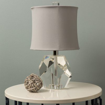 """House of Hampton Kain 16.5"""" Table Lamp Shade Color: Ivory"""