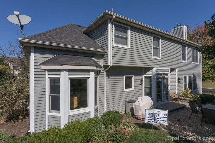 Exterior home renovation by Opal Enterprises with Mastic vinyl siding
