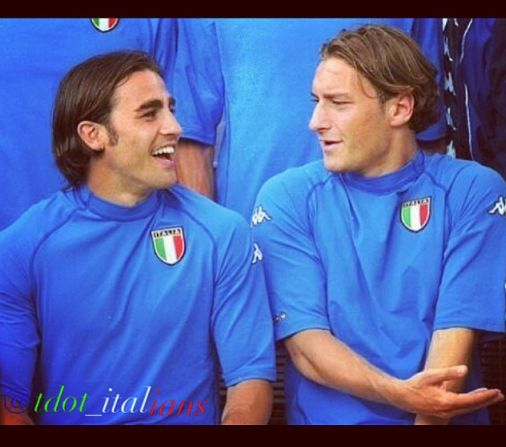 Totti and Cannavaro World Cup 2002  Italy National Football Team
