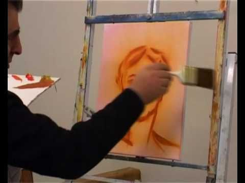 Lär dig måla med Yakob: Porträtt halvabstrakt - Del 2 av 4.avi