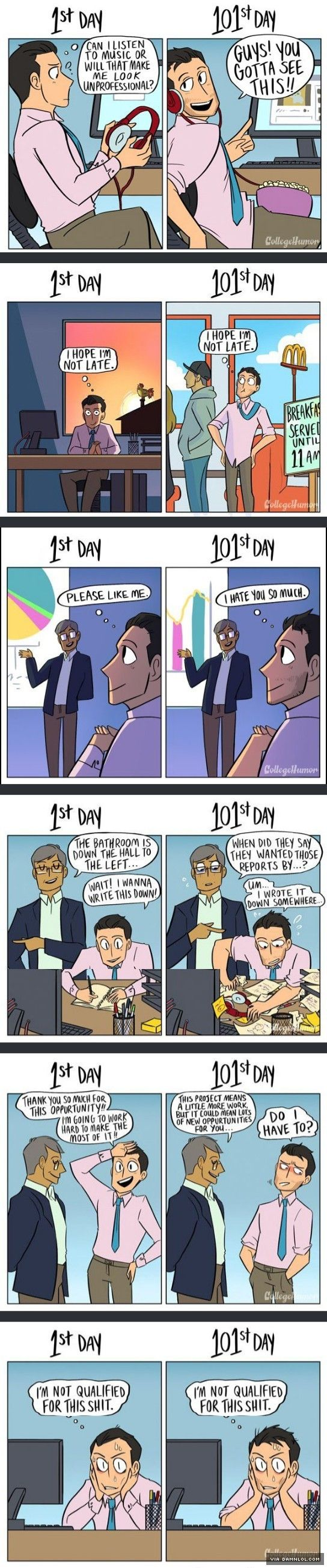 How Your Job Changes Over Time - The Best Funny Pictures