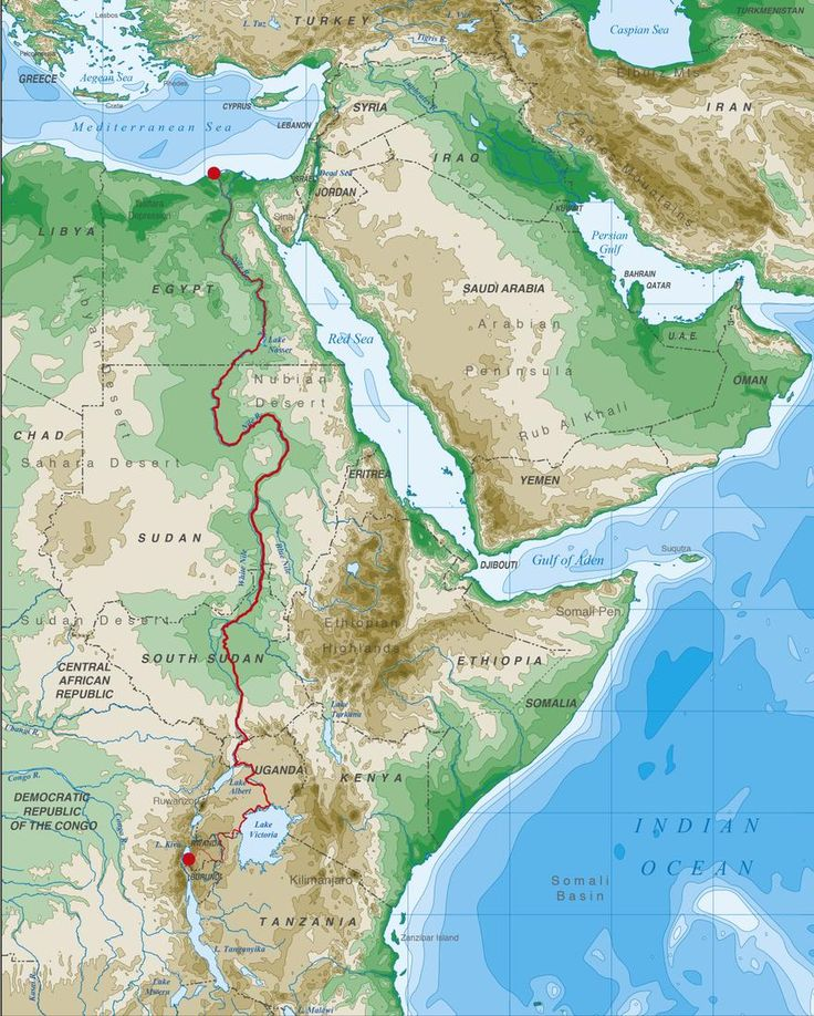 Wood's route along the Nile.