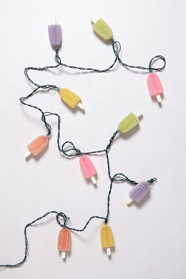 Sweet spring popsicle lights.Child Room, Popsicles String, Trav'Lin Lights, Popsicles Parties, Summer Parties, String Lights, Outdoor Parties, Popsicles Lights, Parties Lights