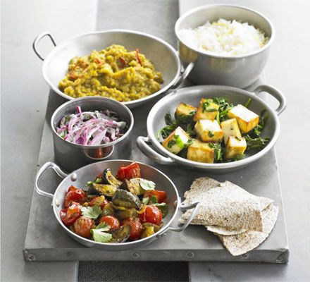 Veggie thali. It looks good! I will have to try this and ...