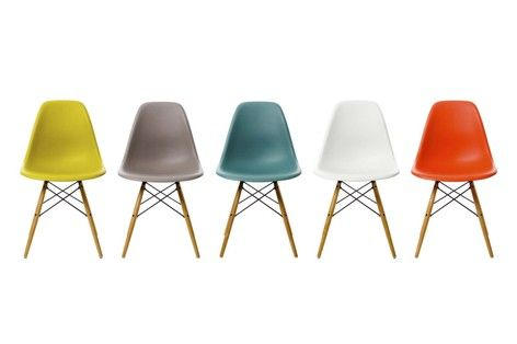 Vitra Eames DSW chair, white