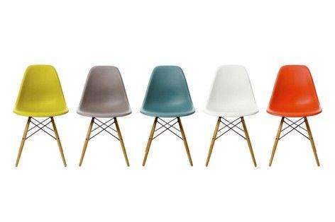 Vitra Eames DSW chair, white