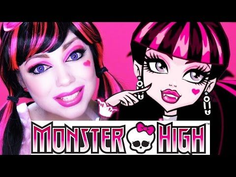 Monster High Clawdia Wolf Doll Makeup Tutorial for Halloween or Cosplay | Kittiesmama - YouTube