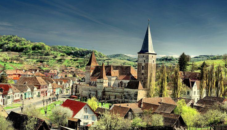 Mosna Fortified Church - Sibiu County, Transylvania, Romania