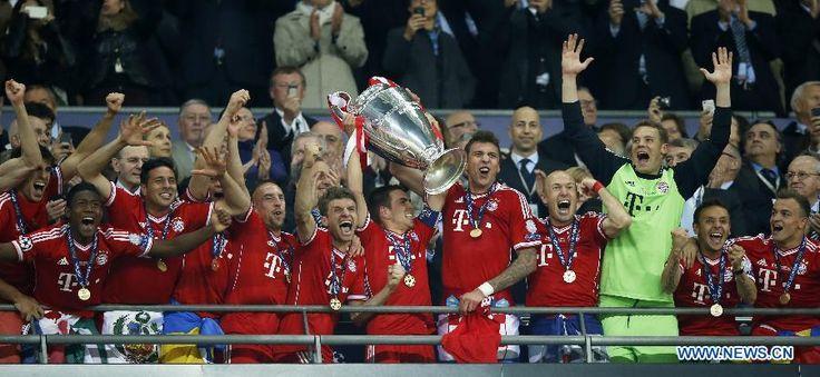 bayern munich stadium - Bayern Munich win UEFA Champions League
