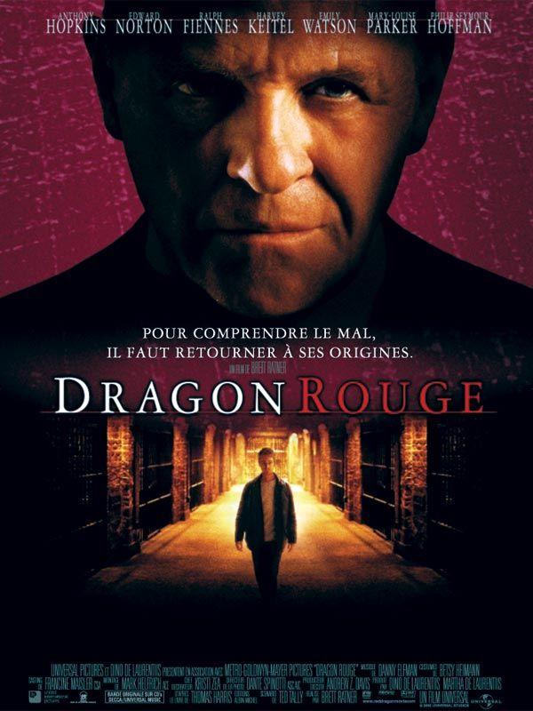 Dragon Rouge est un film de Brett Ratner avec Anthony Hopkins, Edward Norton. Synopsis : Trois ans après avoir arrêté le docteur Hannibal Lecter, Will Graham vit paisiblement avec sa femme et son fils en Floride. Les blessures physiques qu