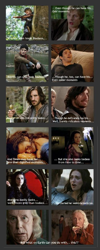 Merlin character moments, sums up most of the series if you ask me