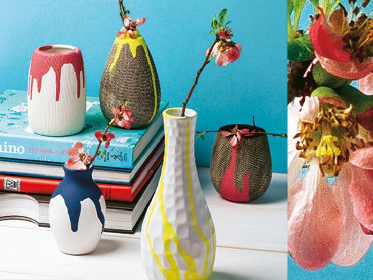 Aus Vasen (& Tellern) von gestern werden die Kunstwerke von morgen. Und dank der Farbverlauf-Technik gelingt das Upgrade spielend leicht
