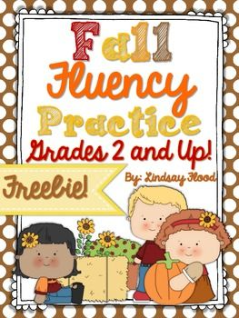 {FREE} 2nd-5th Fall Fluency Practice {Grades 2 & Up!}