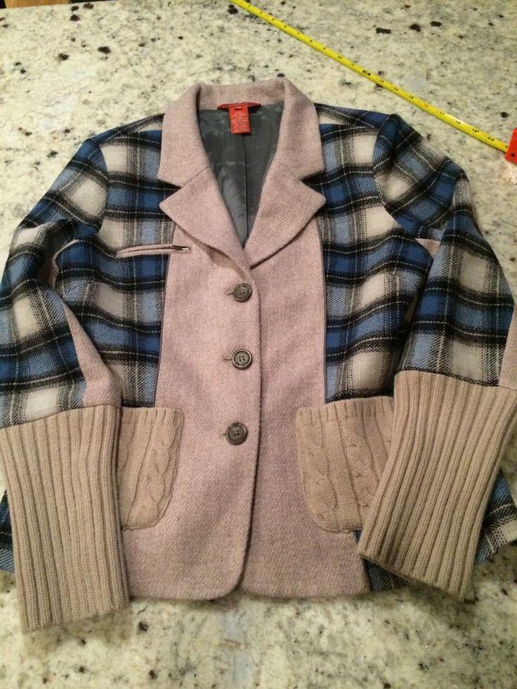Sundance Catalog MIxed Media Plaid Wool Blazer Jacket P10 NWOT $170 #Sundance #BasicJacket