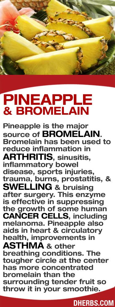 Pineapple is the major source of bromelain. Bromelain has been used to reduce…