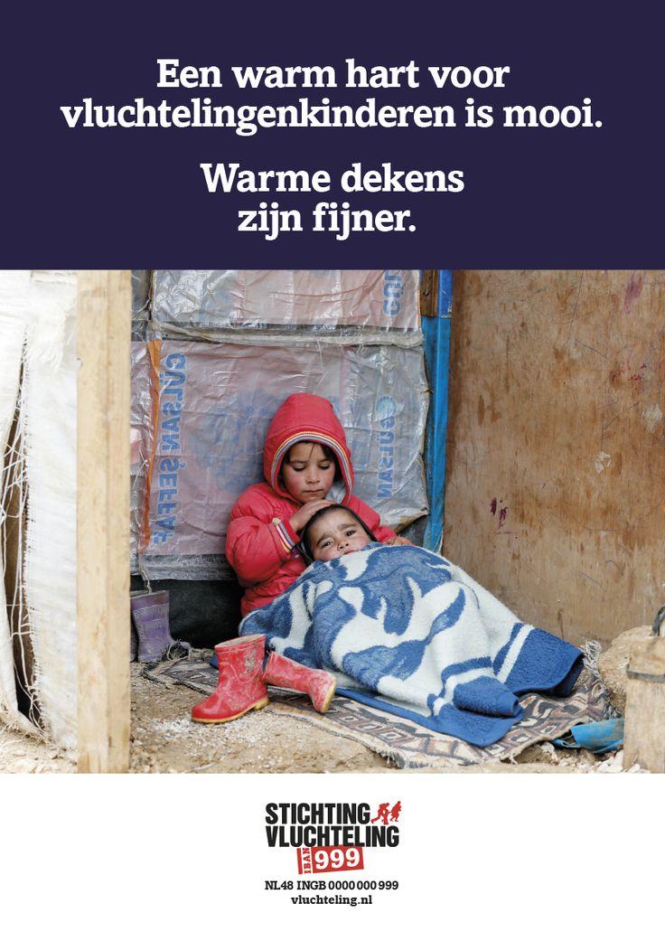 Advertentie uit wintercampagne voor Syrische Vluchtelingen in Libanon.