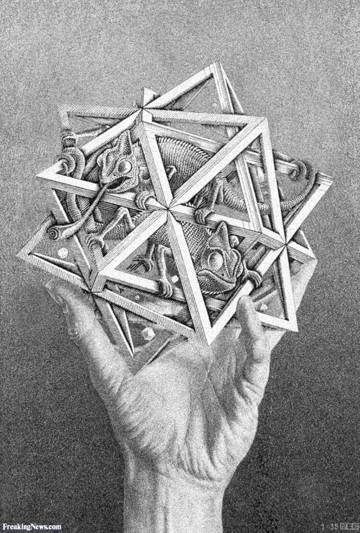 Escher M Optical Illusion Art | Escher Art Pictures - High Resolution Strange Pics