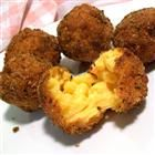 Fried Mac and Cheese Balls....this should be a crime right next to fried to Oreos. I get so weak with joy just thinking about it.