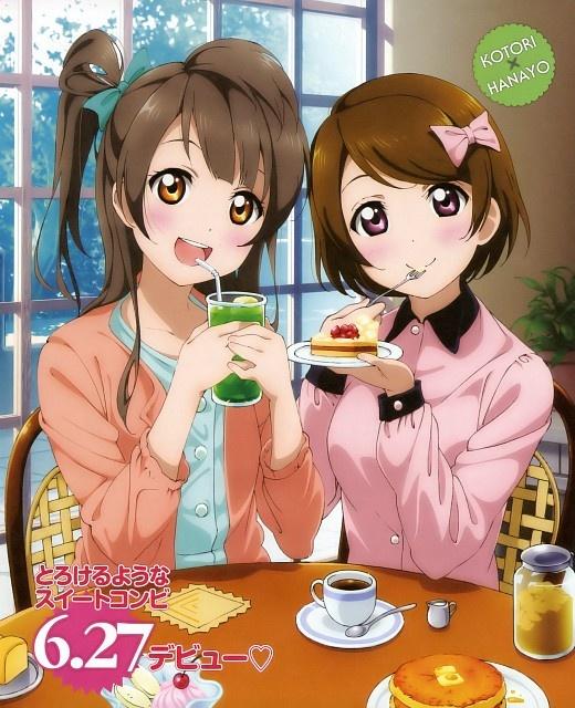 Kotori and Hanayo eating
