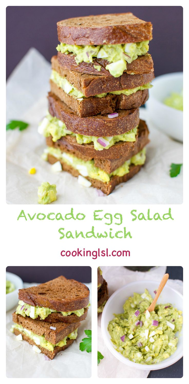 This fresh and light avocado egg salad sandwich is simple to make and perfect for spring.