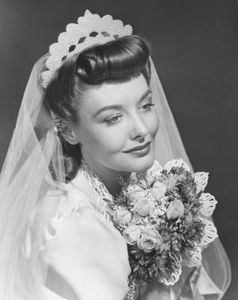 A 1950s Wedding Hairstyle Was Short And Curly Or It Sophisticated Updo Created