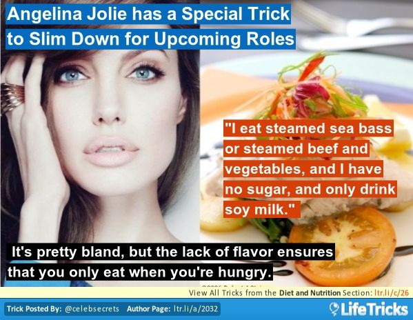Diet and Nutrition - Angelina Jolie has a Special Trick to Slim Down for Upcoming Roles