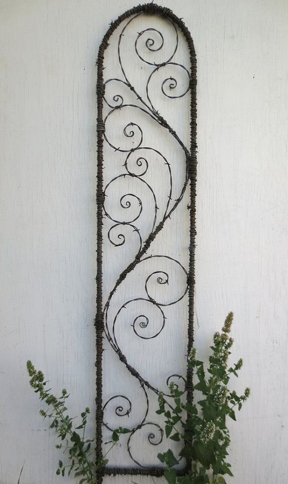 I will be happy to make you a trellis very similar to this one! Give your flowers 5 feet of climbable art! This trellis measures 60 tall and 13