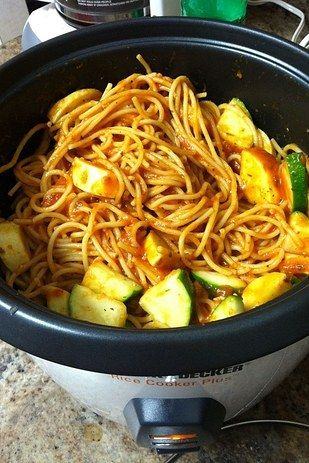 Spaghetti with Kielbasa or Vegetables | 21 Unexpected Things You Can Make In A Rice Cooker