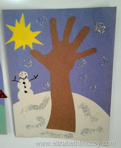 Winter Tree Craft