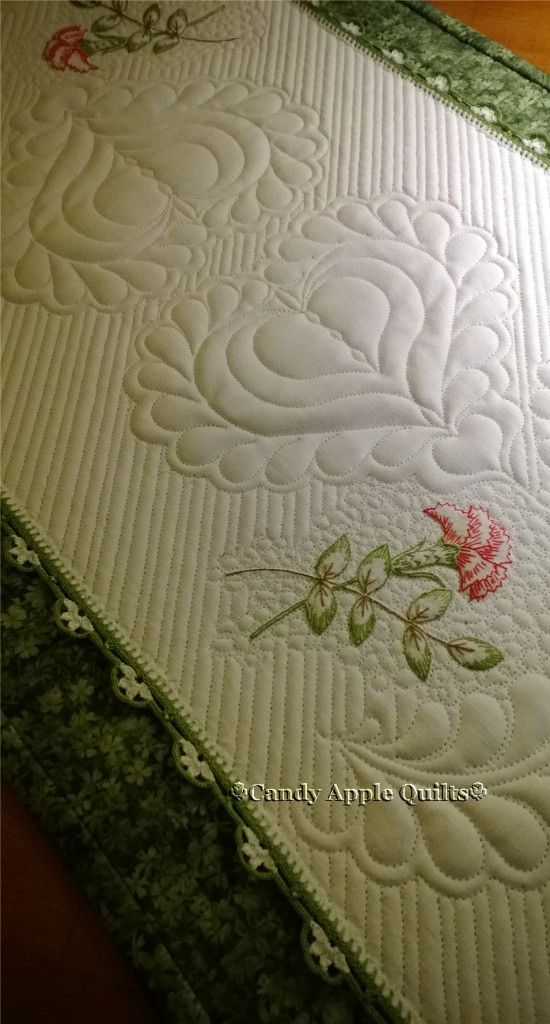 Combining Quilting & Embroidery — Candy Apple Quilts