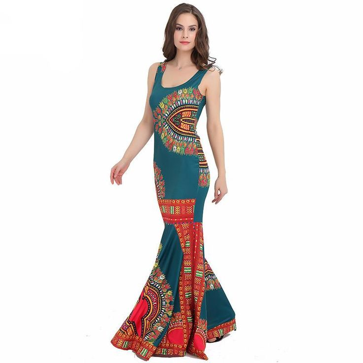 Elegant African Dashiki Maxi Dress!  Free Shipping with ZillyChic  Special Use: Traditional Clothing Item Type: Africa Clothing Type: Dashiki Gender: Women Material: Acrylic,Spandex,Polyester Brand Name: ZillyChic