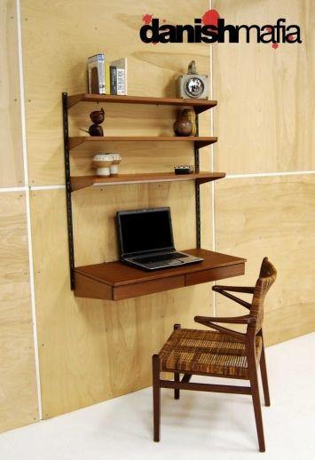 Danish Mid-Century Modern Wall Desk by Kia Kristiansen and FM Furniture