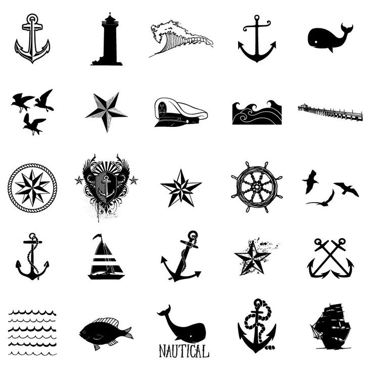 The anchor on the lower left