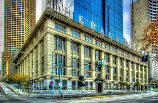 The old Herald Sun building, (in Melbourne).