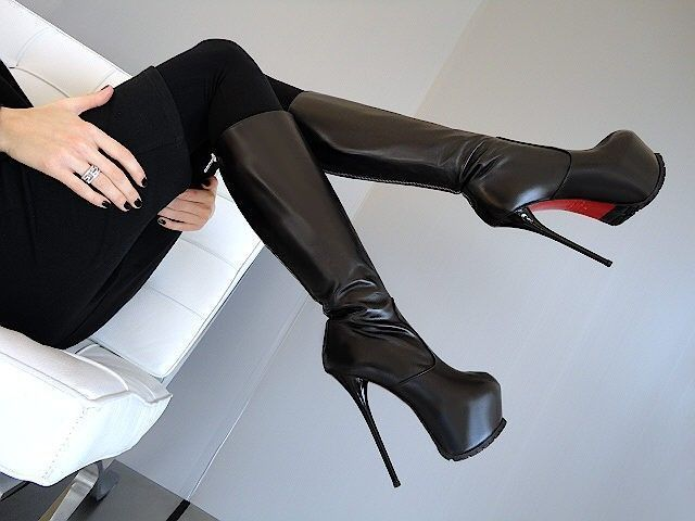Made in Italy Sexy High Heels ob7 Womens Luxury Boots Shoes Leather Black 43 | Kleidung & Accessoires, Damenschuhe, Stiefel & Stiefeletten | eBay! #coolshoeshighheels #platformhighheelsboots
