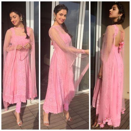 Divya Khosla Kumar in an Outfit by Neha Chopra