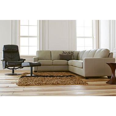 2 Piece Leather Sectional Sleeper   Jcpenney