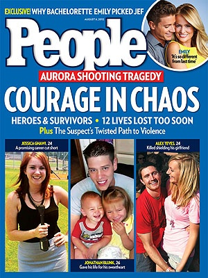 People Magazine August 6 2012 - Aurora Shooting Tragedy: Courage in Chaos